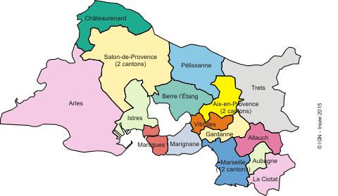 Les cantons du d partement groupe communistes et for Chambre de commerce bouches du rhone